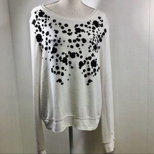 Wildfox Long Sleeve Dalmatian Print Sweatshirt. M
